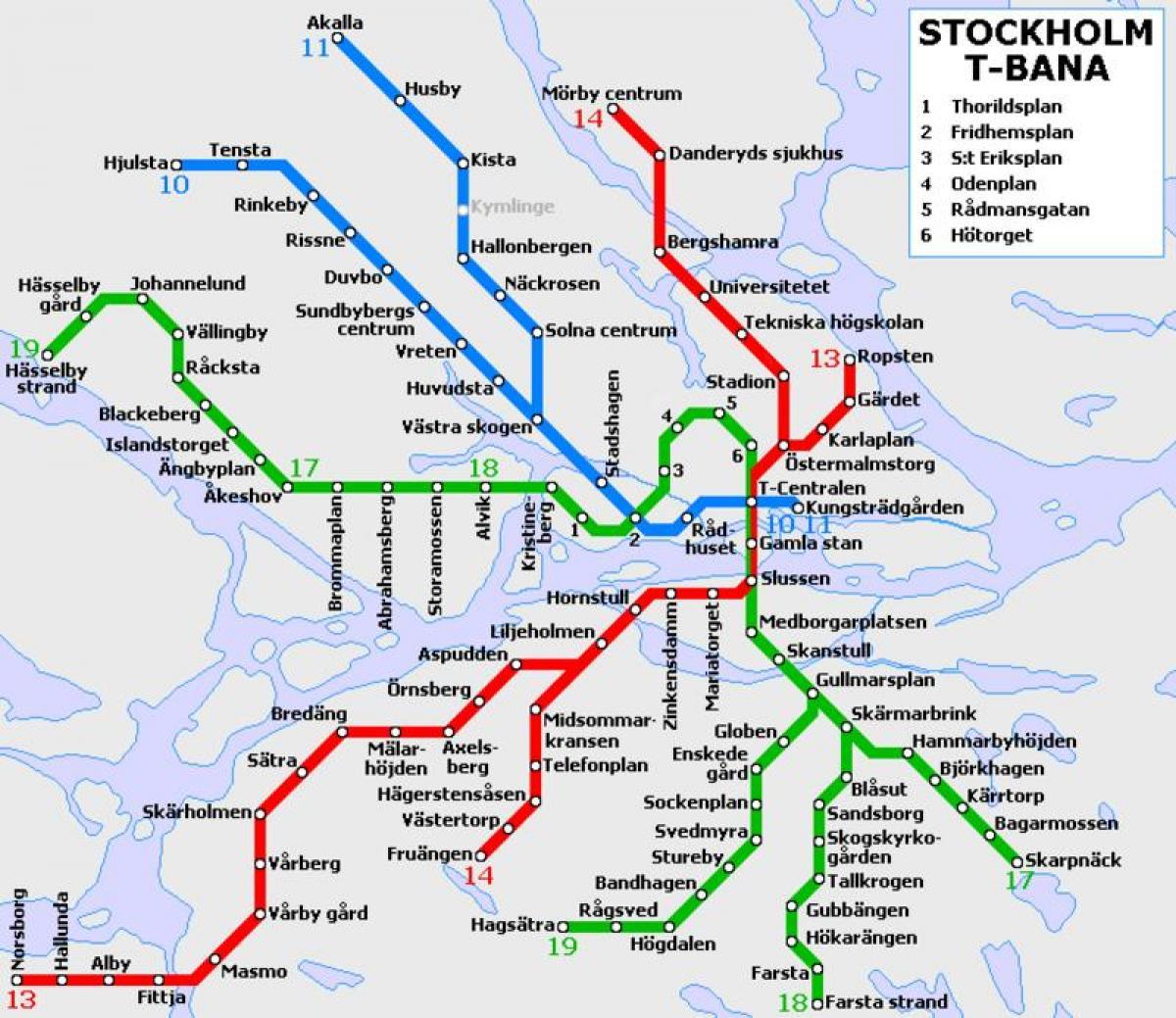 bana térkép Stockholm t bana térkép   Stockholm t bahn térkép (Södermanland