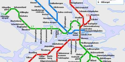 bana térkép Stockholm térkép   Térkép Stockholm (Södermanland, Uppland